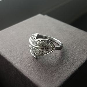 💥2for$30 Leaf  cz silver ring size 6
